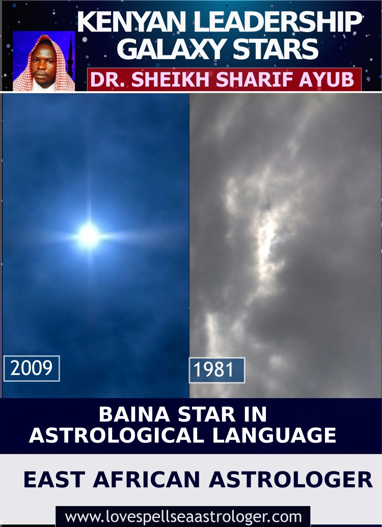 The Kenyan Leadership Galaxy Star/ Baina Star in Astrological Language.