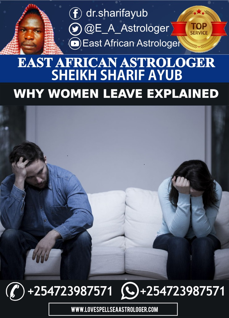 Astrological Reasons that make Women leave their Men explained by Dr. Sharif Ayub
